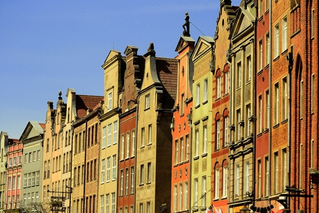 szeroka: Architecture of old town in the center of Gdansk, Poland
