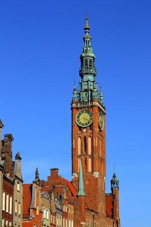 szeroka: The Town Hall  in the center of Gdansk, Poland