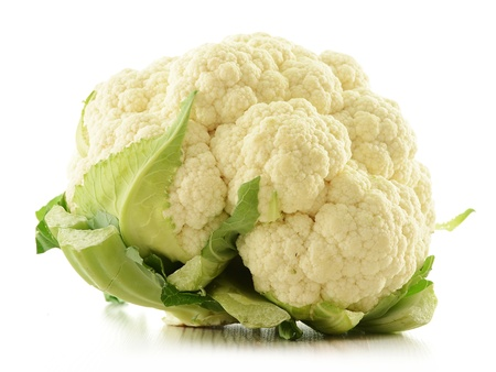 Cauliflower isolated on white