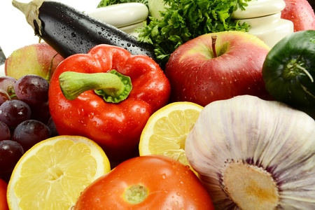 Composition with raw vegetables Stock Photo - 9921392