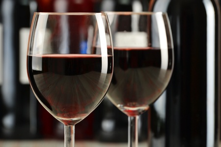 Composition with glasses and bottles of wine Stock Photo - 9921304