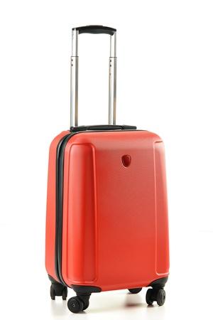 maleta: Maleta aislado en blanco Foto de archivo