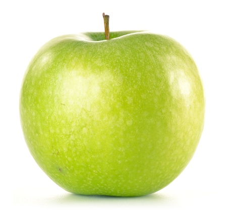 verde manzana: Verde manzana aislada en blanco