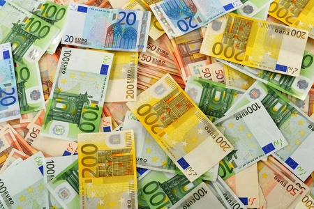 credit union: Composition with Euro banknotes  European Union currency