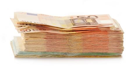banconote euro: Composizione con banconote in euro valuta dell'Unione europea