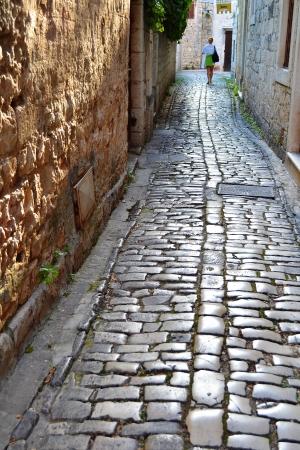 adriatic sea: The street of old town in Trogir, Dalmatia, Croatia on Adriatic coast