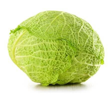 Fresh cabbage isolated on white Stock Photo - 13758337