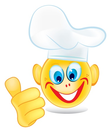 Cook Smiley isolated on white Vector