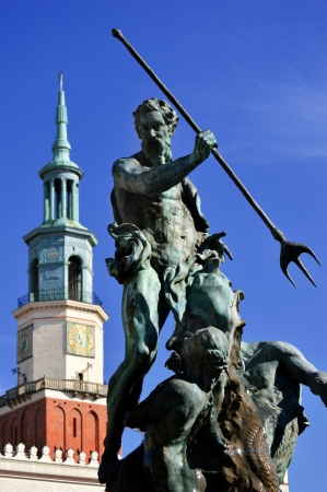 poznan: Architecture of Old Market in Poznan, Poland