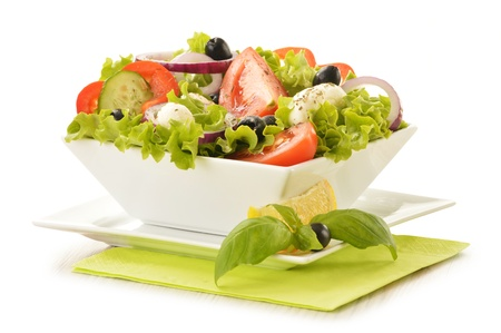 Composition with vegetable salad bowl  photo