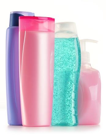 kunststoff rohr: Komposition mit Kunststoff-Flaschen K?rperpflege und Beauty-Produkte