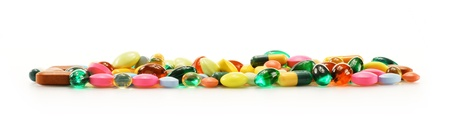 Composition with dietary supplement capsules and drug pills Stock Photo - 17121406