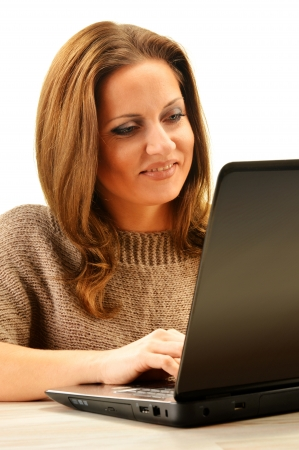 Young woman surfing on the Internet Stock Photo - 17162643