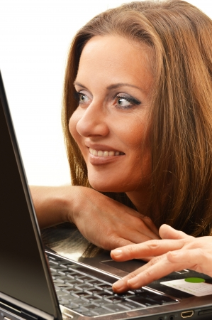 Young woman surfing on the Internet Stock Photo - 17151258