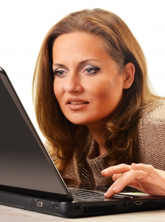 Young woman surfing on the Internet Stock Photo - 17162611