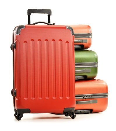 Luggage consisting of large suitcases isolated on white Stock Photo - 17914524