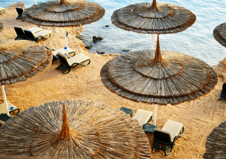 sharm el sheikh: See beach during hot summer day Stock Photo