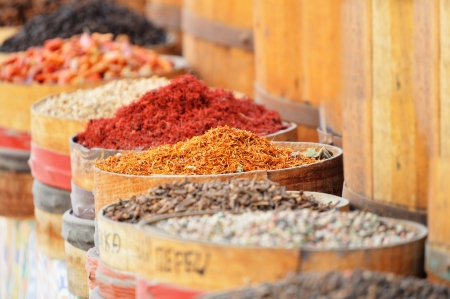 spice market: Variety of spices in arabic store