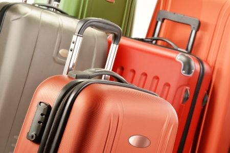 travel luggage: Composition with polycarbonate suitcases
