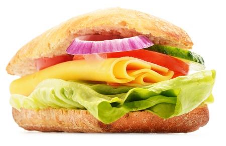 Sandwich isolated on white background Stock Photo - 19352558