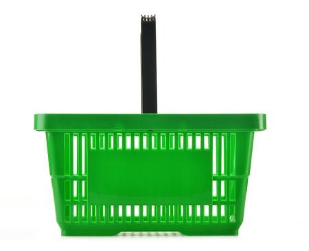 Empty shopping basket isolated on white background Stock Photo - 19580022