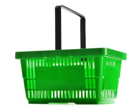 shopping basket: Empty shopping basket isolated on white background