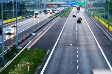 interstate: Controlled-access highway in Poznan, Poland