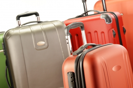 Composition with polycarbonate suitcases photo