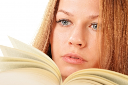 Young woman reading a book  Female student learning Stock Photo - 21611201