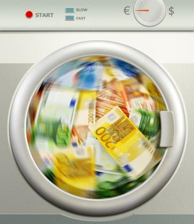 illicit: Valuta riciclaggio di denaro Euro europeo