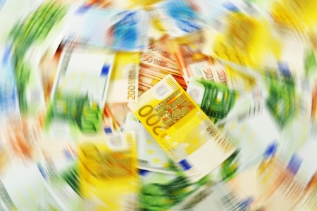 illicit: Money laundering  Euro European currency Stock Photo