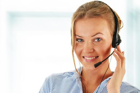 Call center operator. Customer support. Helpdesk.  photo