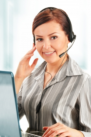 Call center operator. Customer support. Help desk.  photo