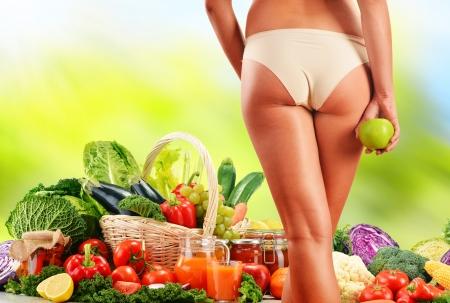 alimentacion balanceada: Dieta Dieta equilibrada basada en vegetales org�nicos crudos