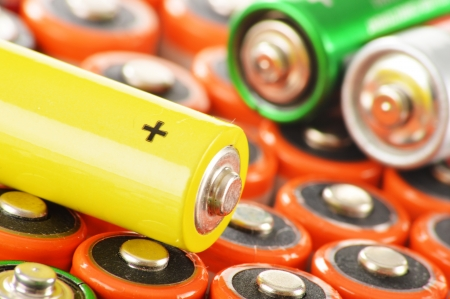 Composition with alkaline batteries   Chemical waste photo