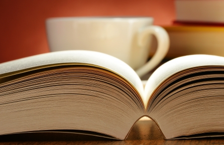 prose: Composition with books on the table