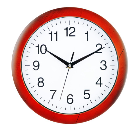 wall clock: Wall clock isolated on white background Stock Photo