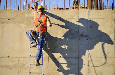 labor: Construction worker at work