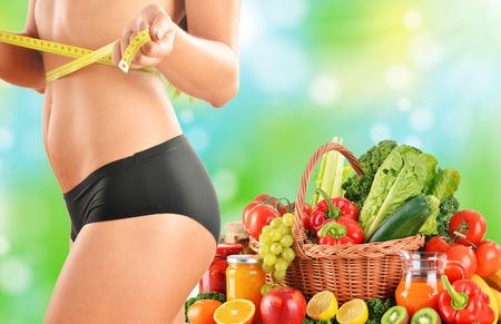 未加工有機野菜に基づいてバランスのとれた食事ダイエット