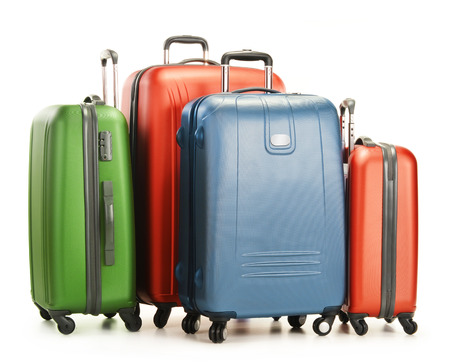 Luggage consisting of large suitcases isolated on white photo