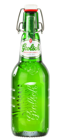 holand: Grolsch Premium Pilsner - known internationally as Grolsch Premium Lager, is the flagship beer of Dutch Grolsch Brewery, part of the SABMiller group since 2008 Editorial