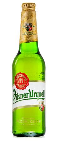pilsner: Plzensk� Prazdroj, la primera cerveza pilsner en el mundo, m�s conocido por su nombre alem�n Pilsner Urquell es una marca destacada de la compa��a cervecera mundial SABMiller