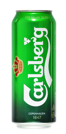 carlsberg: Globaly distributed pale lager beer produced by Carlsberg Group, a Danish brewing company founded in 1847 with headquarters located in Copenhagen, Denmark