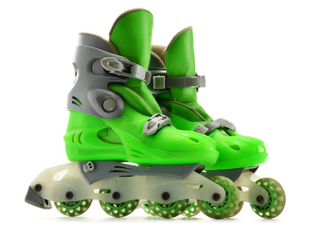 inline: A pair of inline skates isolated on white background Stock Photo
