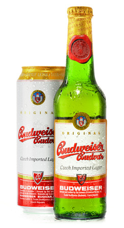 exported: Budweiser Budvar one of the highest selling beers in the Czech Rep. exported into more than 60 countries, produced in Ceske Budejovice by Budweiser Budvar Brewery