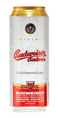 exported: Budweiser Budvar one of the highest selling beers in the Czech Rep  exported into more than 60 countries, produced in Ceske Budejovice by Budweiser Budvar Brewery