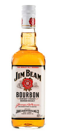 bourbon: Jim Beam is one of best selling brands of bourbon in the world, produced by Beam Inc  in Clermont, Kentucky  Editorial