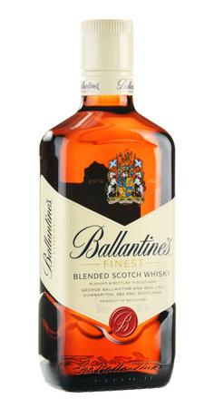 whisky bottle: Ballantine
