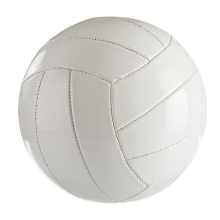 voleibol: Voleibol de cuero negro aislado en un fondo blanco