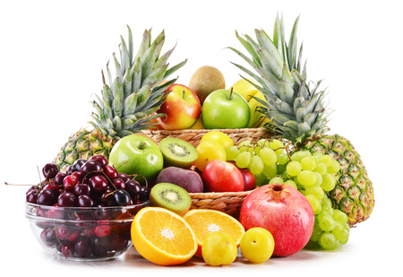 balanced diet: Composition with variety of fresh fruits  Balanced diet